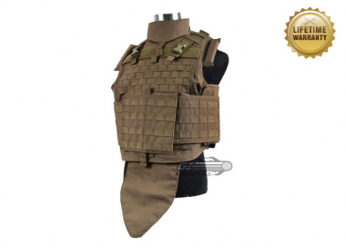 Pantac USA 1000D Cordura Interceptor Plate Carrier ( Medium / Coyote / Tactical Vest )