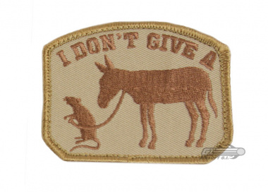 MM I Don't Give A... Velcro Patch ( TAN )