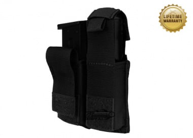 Pantac USA 1000D Cordura Molle Dual .45 Magazine Pouch w/ Hard Inserts ( Black )