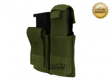 Pantac USA 1000D Cordura Molle Dual .45 Magazine Pouch w/ Hard Inserts ( OD )
