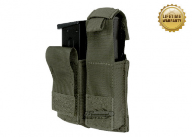 Pantac USA 1000D Cordura Molle Dual .45 Magazine Pouch w/ Hard Inserts ( Ranger Green )