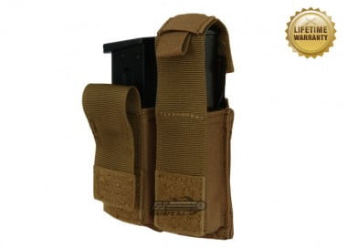 Pantac USA 1000D Cordura Molle Dual .45 Magazine Pouch w/ Hard Inserts ( Coyote )