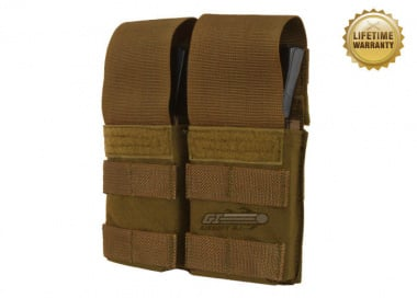Pantac USA 1000D Cordura Molle Double M4 / M16 Magazine Pouch w/ Hard Inserts ( Coyote )
