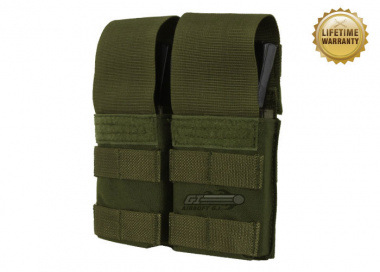 Pantac USA 1000D Cordura Molle Double M4 / M16 Magazine Pouch w/ Hard Inserts ( OD )