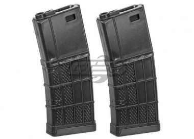 Socom Gear Lancer 340rnds M4 / M16 L5 AWM High Capacity AEG Magazine ( Black / 2 Pack )