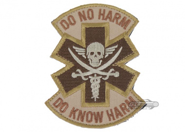 MM Do No Harm Pirate Velcro Patch ( Tan )