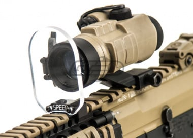 Speed Airsoft Round Optic BB Shield ( Large )
