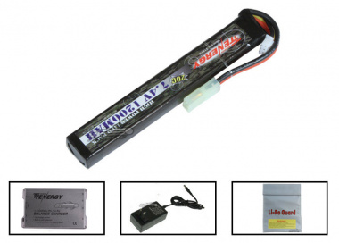 Tenergy 7.4V 1200mah LiPo Stick Battery Package ( Battery , Charger & Liposack )