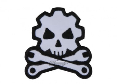 MM Death Mechanic Velcro Patch ( Blk / Wht )