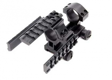 "(Discontinued) Leapers 1"" Carry Handle Scope Mount with Integral Tactical Rails"