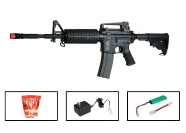 (Discontinued) G&G Full Metal GR-16 Carbine Airsoft Gun ( Battery / BBs / Charger Package / M4-A1 )