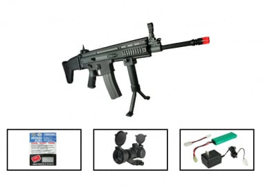 (Discontinued) G&G Full Metal G-MK16 L Airsoft Gun PRO Package