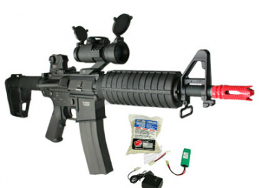 (Discontinued) G&G Full Metal GR-16 CQB H Airsoft Gun ( Battery / BBs / Charger Package / M4-CQBH )