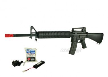 (Discontinued) G&G Full Metal GR-16 A3 Airsoft Gun ( Battery / BBs / Charger Package / M16-A3 )