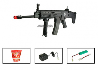 (Discontinued) G&G Full Metal G-MK16 L Airsoft Gun ( Battery / BBs / Charger Package / BLK )