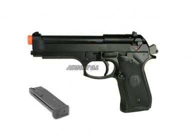 KJW Full Metal M9 Military GBB Airsoft Gun w/ 26rd M9 Standard Magazine Package