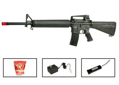 (Discontinued) KWA Full Metal M16 Battle Rifle 2GX AEG Airsoft Gun ( Battery / BBs / Charger Package )