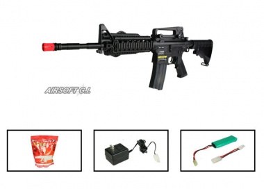 (Discontinued) KWA Full Metal M4 RIS 2GX Airsoft Gun ( Battery / BBs / Charger Package / Airsoft GI )