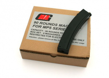 MAG 90rd MK5 / MP5 Mid Capacity AEG Magazine ( 8 Pack )