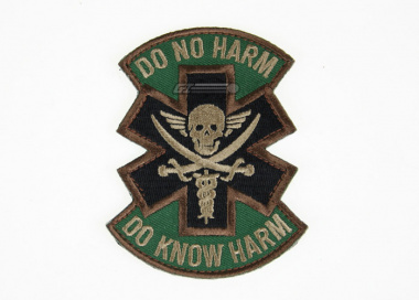 MM Do No Harm Pirate Velcro Patch ( Forest )