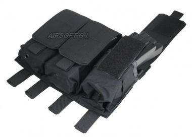 (Discontinued) HSS 5.56 Magazine Triple Molle Pouch (BLK)