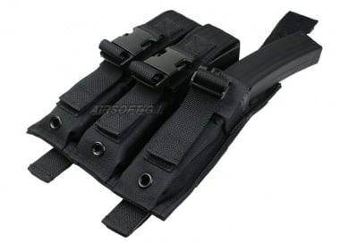 (Discontinued) HSS 9mm SMG Triple Molle Magazine Pouch (BLK)