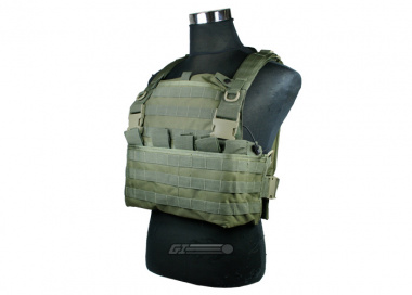 King Arms MPS Combat Chest Armor ( OD / Tactical Vest )