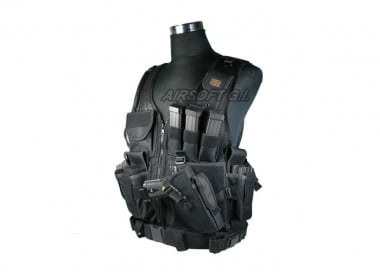 Tactical Crossdraw Vest ( BLK )