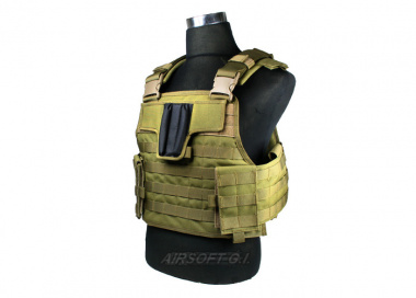J-Tech Aegis-II Plate Carrier Tactical Vest ( COY Brown / Medium )