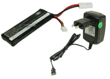 * Discontinued * SRC 11.1v 1000mAh LiPo Battery Package ( Battery , Charger & Liposack )