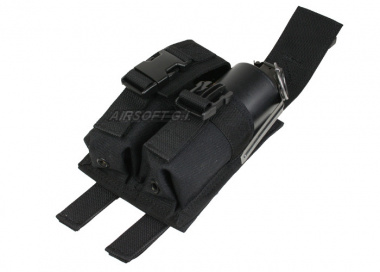 (Discontinued) HSS Dual Flash Grenade Molle Pouch ( BLK )