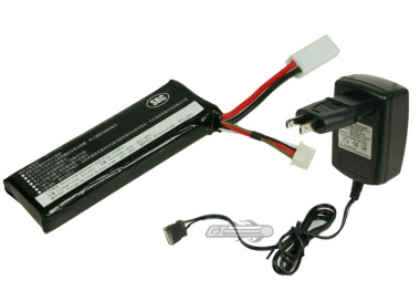 (Discontinued) SRC 7.4v 1000mAh LiPo Battery Package ( Battery , Charger & Liposack )