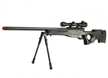 Double Eagles Full Metal L96 Bolt Action Sniper Rifle Airsoft Gun ( BLK / Scope / Bipod Package )