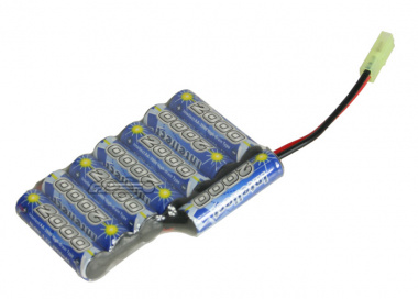 Intellect 9.6v 2000mAh NiMH Custom ICS AN / PEQ2 Box Battery
