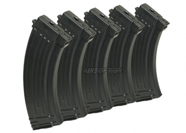 King Arms 110rd AK47 Mid Capacity AEG Magazine ( 5 Pack )