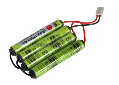Sanyo 9.6v 1700mAh NiCd 4 Sticks Battery