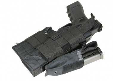 Condor Outdoor MOLLE Compatible Ambidextrous Holster for Glock ( Black )