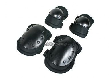 * Discontinued * Tactical Elbow and Knee Pads Set ( BLK )
