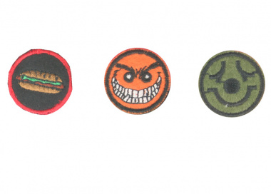 Action Velcro Patch - Mad Smile