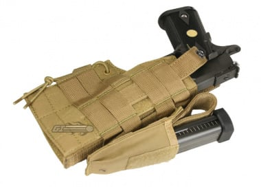 Condor Outdoor MOLLE Compatible Ambidextrous Holster for 1911 ( TAN )
