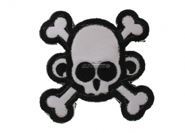 MM Monkey Skull & Cross Bone Velcro Patch ( Swat )