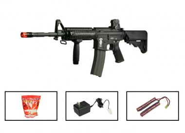(Discontinued) G&G Full Metal GR-16 R4 Commando Airsoft Gun ( Battery / BBs / Charger Package / M4-RIS SEAL )