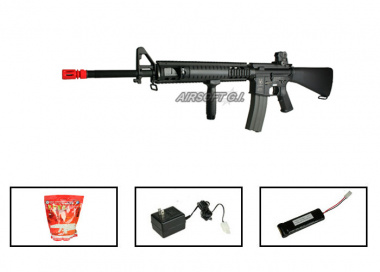(Discontinued) G&G Full Metal GR-16 R5 Airsoft Gun ( Battery / BBs / Charger Package / M16-A4 RIS )