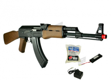 G&G Full Metal/Wood RK 47 AEG Airsoft Gun ( Battery / BBs / Charger Package )