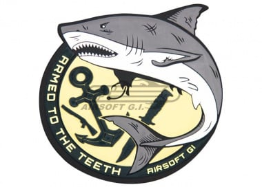 "Airsoft GI ""Armed to the Teeth"" Shark PVC Patch"