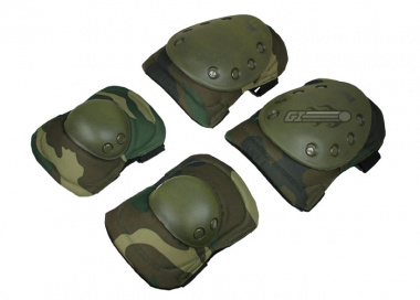 Tactical Elbow and Knee Pads Set ( Woodland )