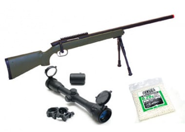 UTG Full Metal Gen. 5 M324S Pro Bolt Action Sniper Rifle Airsoft Gun ( OD / Scope / BB's Package )