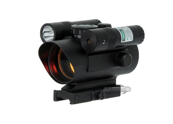 VISM Red Dot Sight (Integrated Green Laser & Flashlight)