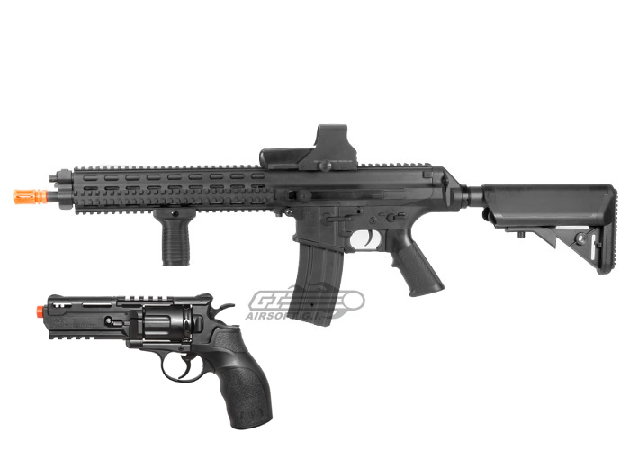 March Mayhem Robinson Arms XCR-L & Elite Force h8r Airsoft Gun Package