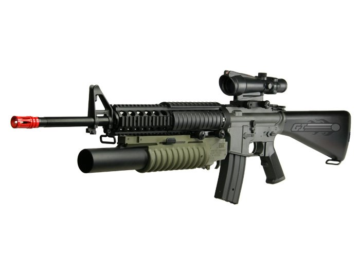 JG F6620 M16A4 DMR RIS Rifle AEG Airsoft Gun Enhanced ... M14 Tactical